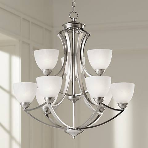 Possini Euro Design Milbury Nine Light 30 Wide Chandelier