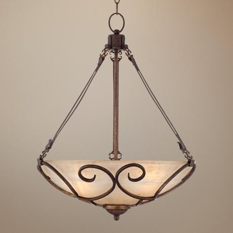 Kathy Ireland Italian Treasure 3-Light Bowl Pendant Light