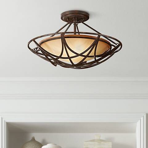 "Feiss El Nido 18"" Round Ceiling Light Fixture"