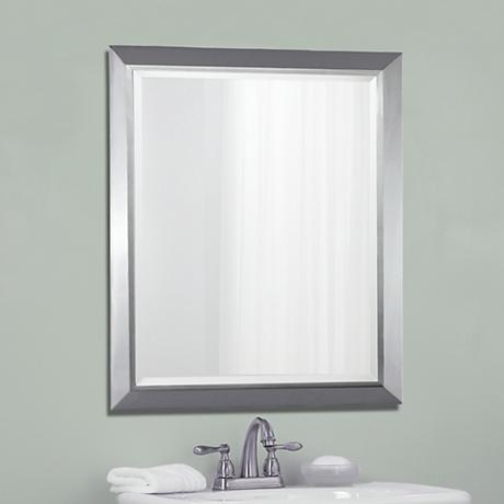 "Kichler Chrome 30"" High Rectangular Wall Mirror"
