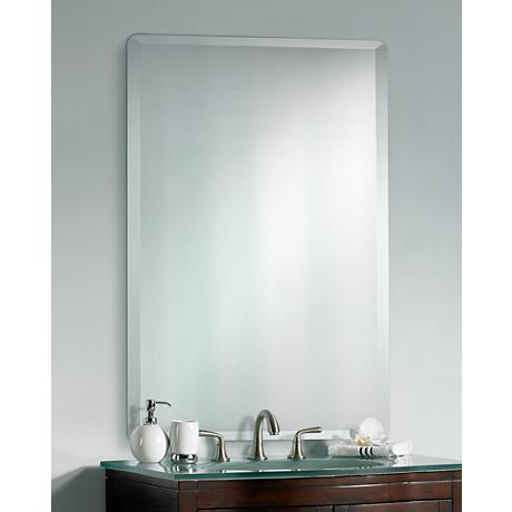 Frameless Rectangular 40 High 30 Wide Beveled Mirror P1394 Lamps Plus