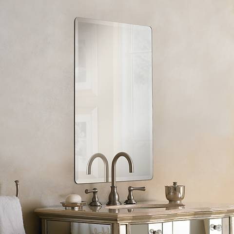 "Galvin Frameless Beveled 24"" x 36"" Wall Mirror"