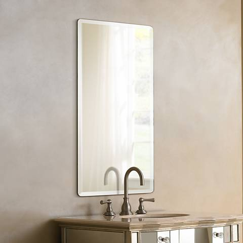 Frameless Rectangular 30 Quot High Beveled Mirror P1401