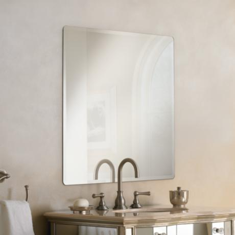 Galvin Frameless Beveled 36 Quot Square Wall Mirror P1426