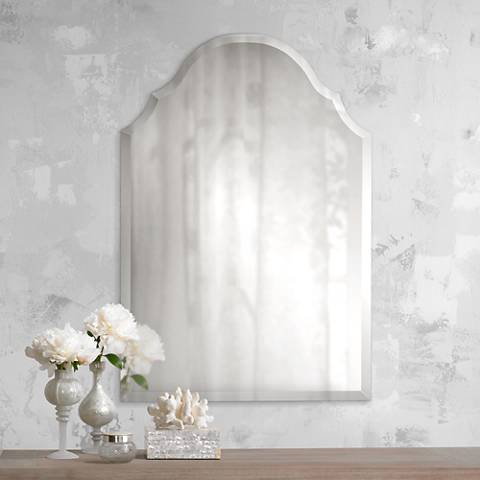"Crown Frameless 32"" High Beveled Wall Mirror"