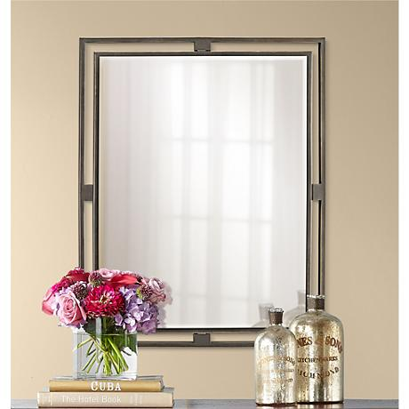 "Kichler Hendrik Olde Bronze 30"" High Wall Mirror"