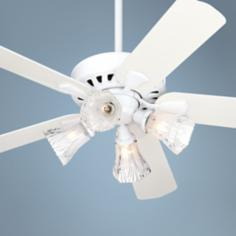 "52"" Casablanca Vector 4-Light White Ceiling Fan"