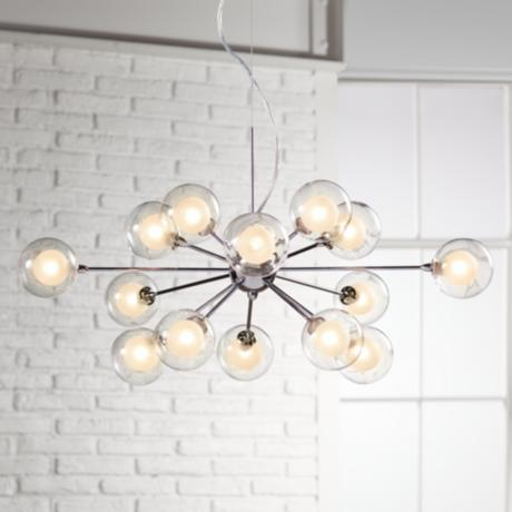 Possini Euro Design Glass Orbs 15-Light Pendant Chandelier