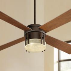 "52"" Quorum Mission Oiled Bronze Ceiling Fan"
