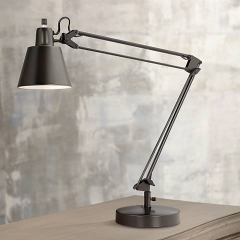 Udbina Bronze Adjustable Architect's Desk Lamp