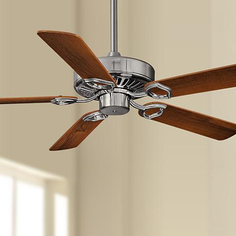 "52"" Minka Aire Ultra-Max Brushed Nickel Ceiling Fan"