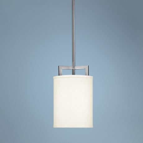 "Hinkley Hampton Collection 7"" Wide Nickel Mini Pendant Light"