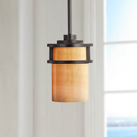 Kyle Imperial Bronze Mini Pendant Light