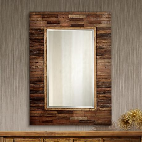 "Rustic Getaway Rectangular 40"" High Wall Mirror"