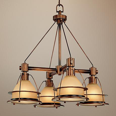 "Bristol Bay Sunset Bronze 25 1/2"" Wide 4-Light Chandelier"