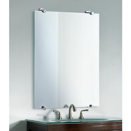 "Gatco Latitude 2 Polished Chrome 32"" High Wall Mirror"