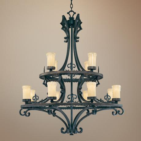 "Savoy House Calvi 35 3/4"" Wide Large Candle Chandelier"