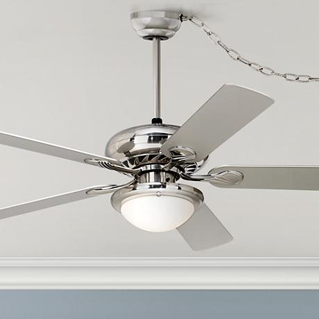 52 Quot Casa Tempra Brushed Nickel Swag Ceiling Fan P9480