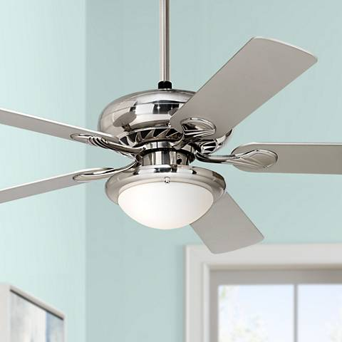 "52"" Casa Vieja Tempra Brushed Nickel Ceiling Fan"