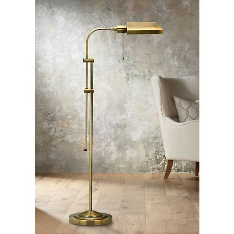 Stiffel Chariot Oxidized Bronze Metal Floor Lamp 16w80