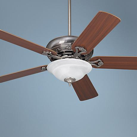 "52"" Casa Vieja Trilogy Pewter Ceiling Fan with Light Kit"