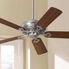"52"" Casa Vieja® Trilogy™ Pewter Ceiling Fan"