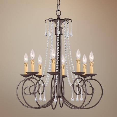 "Crystorama Soho Collection Dark Rust 28"" Wide Chandelier"