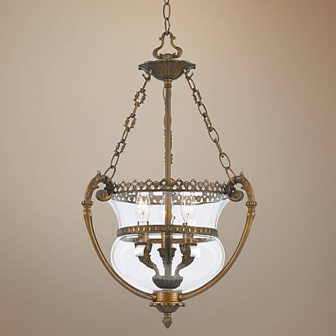 "Crystorama Camden Hill 16"" Wide Entry Pendant Light"