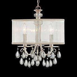 "Crystorama Hampton Polished Chrome 14"" Wide Mini Chandelier"