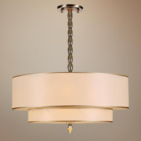"Crystorama Luxo Collection Brass 26"" Wide Pendant Light"