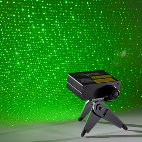 BlissLights Green Laser Portable Starfield Projector