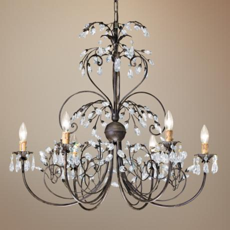 "Crystorama Victoria Collection Dark Rust 28"" Wide Chandelier"