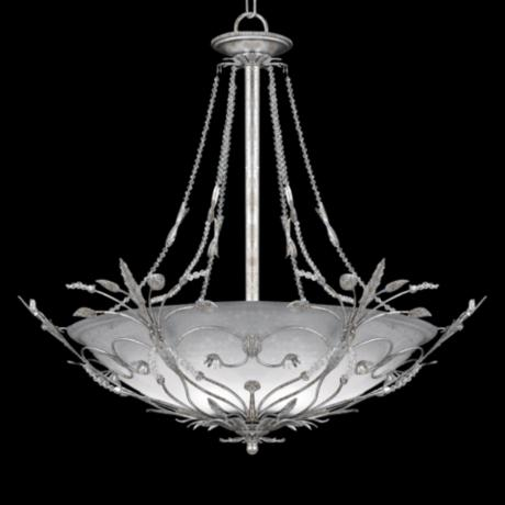 "Swarovski Paris Flea Silver 25"" Wide Pendant Light"