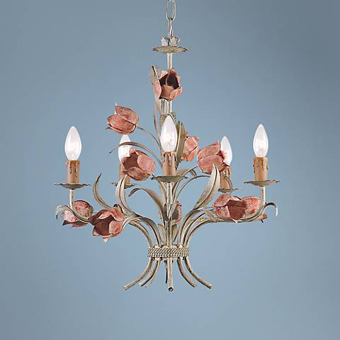 "Crystorama Paris Flea Market 19"" Wide Tulip Chandelier"