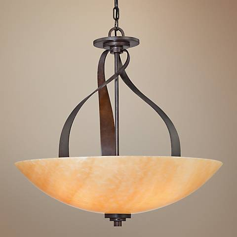 Kyle Rod Hung Bowl Pendant Light