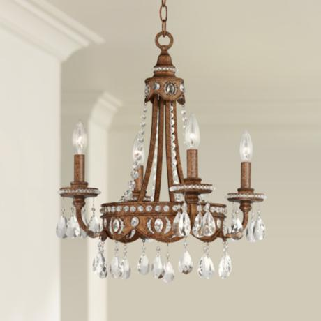 Bolivian Bronze Four Light Mini Chandelier