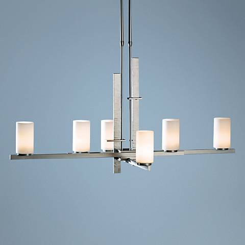 Hubbardton Forge Ondrian Burnished Steel 6-Light Chandelier