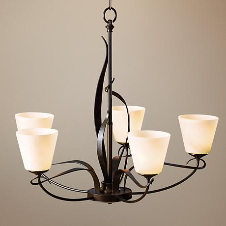 "Hubbardton Forge Flora Stone Glass 26 1/2"" Wide Chandelier"