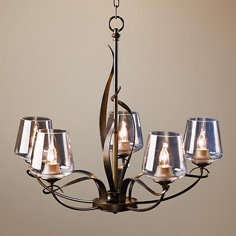 "Hubbardton Forge Flora Clear Glass 26 1/2"" Wide Chandelier"