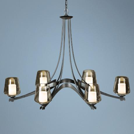"Hubbardton Forge Ribbon Collection 38 1/2"" Wide Chandelier"