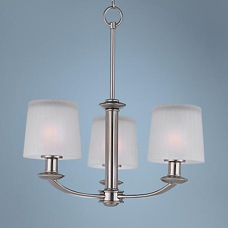 "Maxim Finesse Nickel Finish 18 1/2"" Wide 3-Light Chandelier"