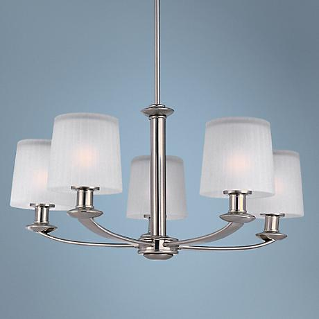 "Maxim Finesse Nickel Finish 25 1/2"" Wide 5-Light Chandelier"