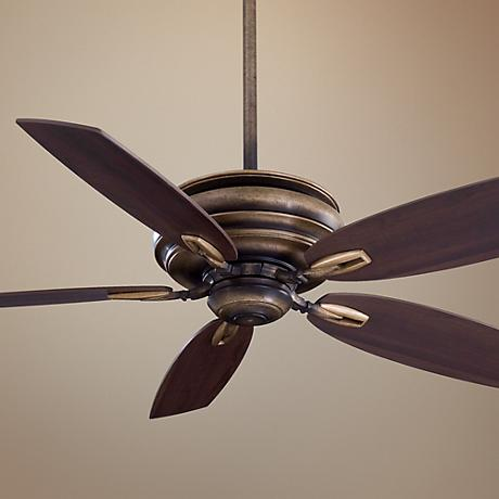 "54"" Minka Aire Timeless Patina Iron Finish Ceiling Fan"