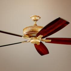 "70"" Kichler Monarch Wispy Brulee Ceiling Fan"