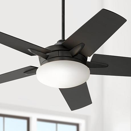 "52"" Casa Vieja Endeavor® Matte Black Ceiling Fan"