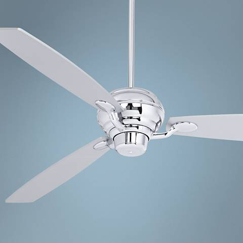 "66"" Spyder Silver Square Tip Chrome Ceiling Fan"