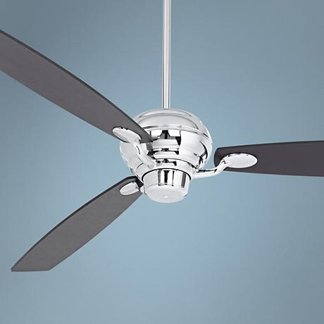 "66"" Spyder Espresso Square Tip - Chrome Ceiling Fan"