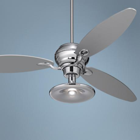 "66"" Spyder™ Chrome Ceiling Fan With Light Kit"
