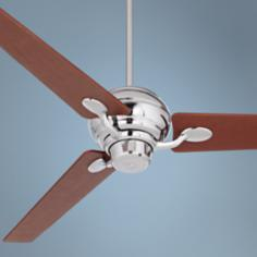 "60"" Spyder™ Chrome with Walnut Blades Ceiling Fan"