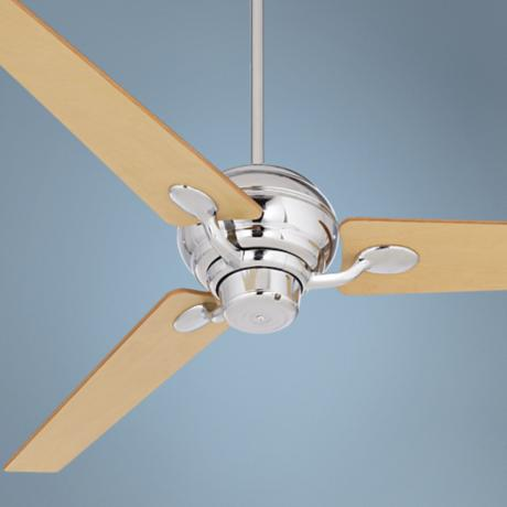 "60"" Spyder™ Chrome with Maple Blades Ceiling Fan"